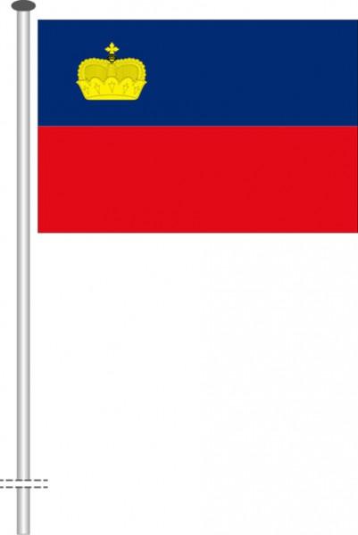 Liechtenstein als Querformatfahne
