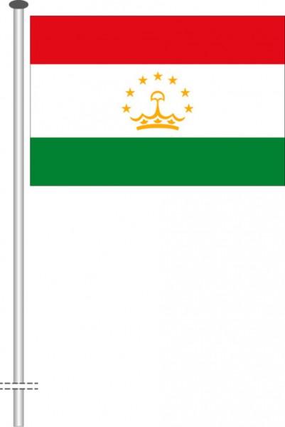 Tadschikistan als Querformatfahne