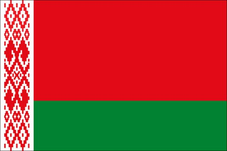 Weissrussland Belarus als Fanfahne