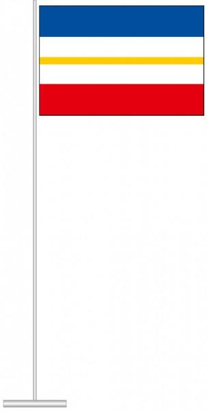 Mecklenburg-Vorpommern - Streifenflagge als Tischfahne