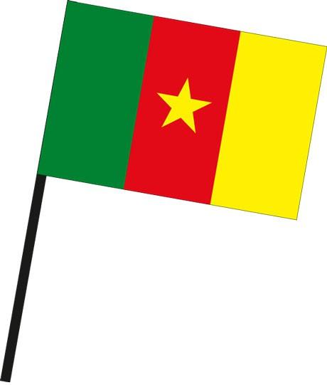 Kamerun als Stockfahne