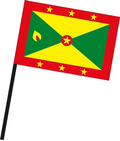 Grenada als Stockfahne