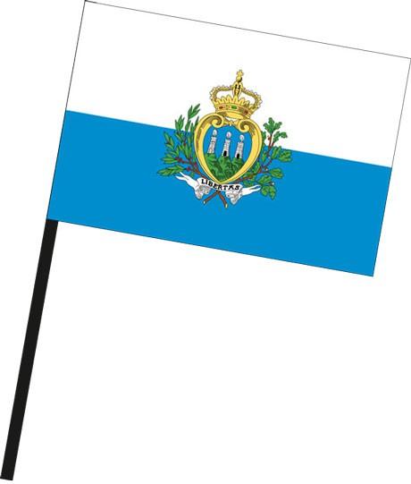 San Marino als Stockfahne
