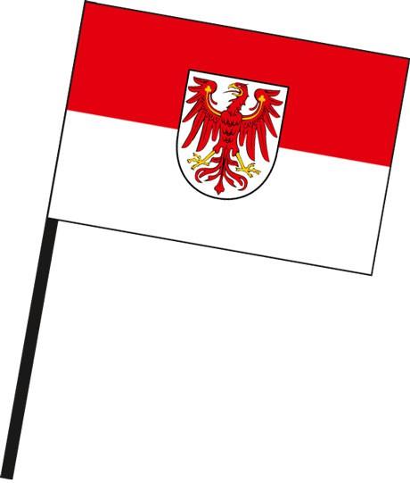 Brandenburg - Bürgerflagge als Stockfahne
