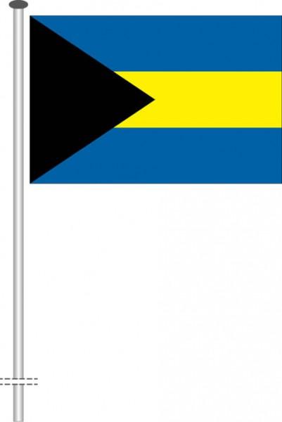 Bahamas als Querformatfahne