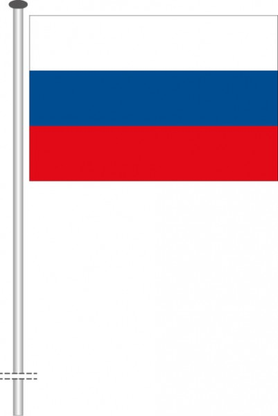 Russland als Querformatfahne