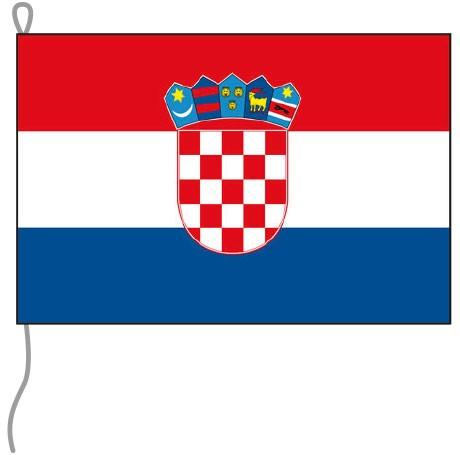 Kroatien als Bootsfahne