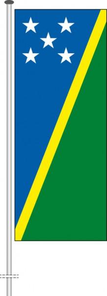 Salomonen als Hochformatfahne