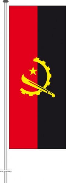 Angola als Hochformatfahne