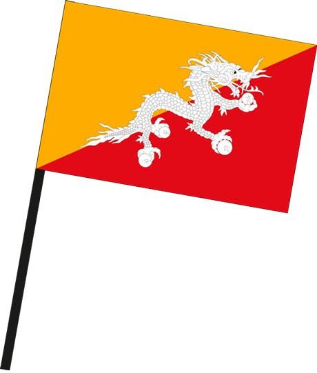 Bhutan als Stockfahne