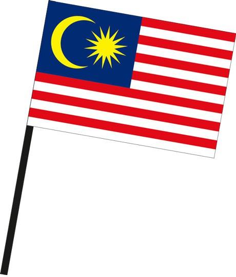 Malaysia als Stockfahne