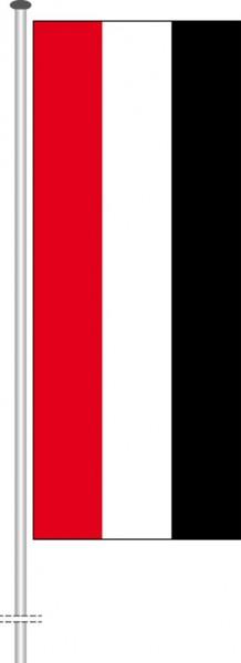 Jemen als Hochformatfahne