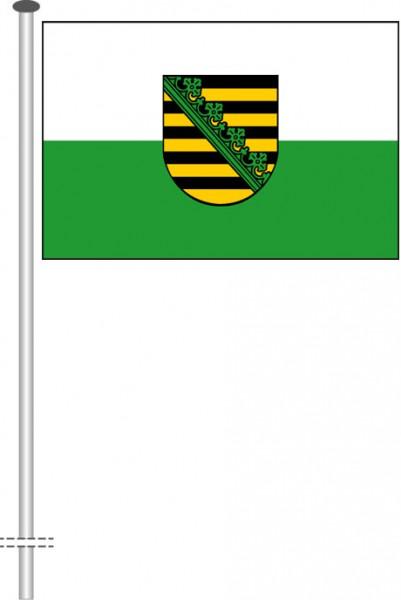 Sachsen - Dienstflagge als Querformatfahne
