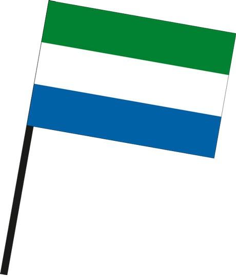 Sierra Leone als Stockfahne