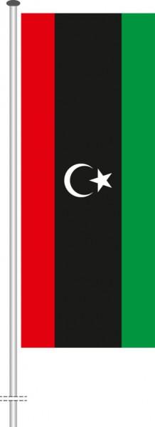 Libyen als Hochformatfahne