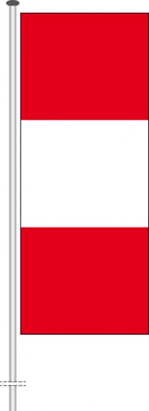 Peru als Hochformatfahne