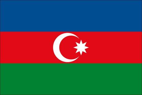 Aserbaidschan als Fanfahne