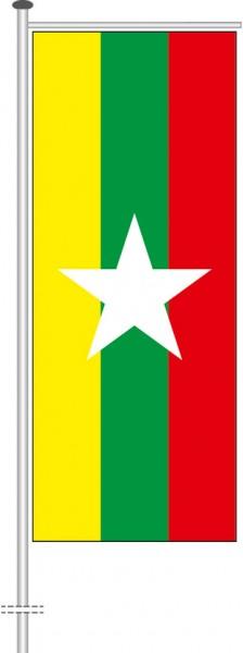 Myanmar als Auslegerfahne