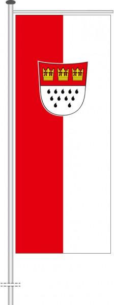 Köln mit Wappen als Auslegerfahne