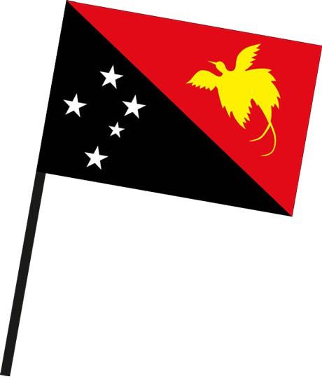 Papua-Neuguinea als Stockfahne