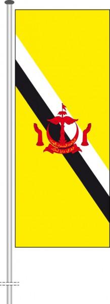 Brunei als Hochformatfahne