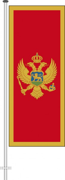 Montenegro als Hochformatfahne