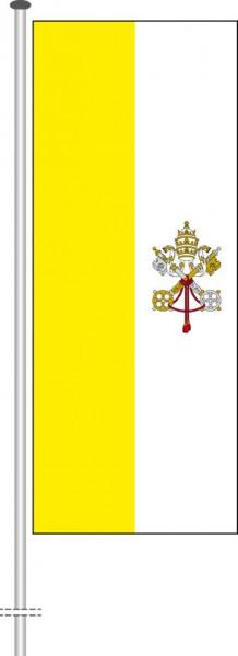 Vatikan als Hochformatfahne