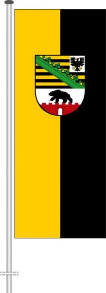 Sachsen-Anhalt - Dienstflagge als Hochformatfahne
