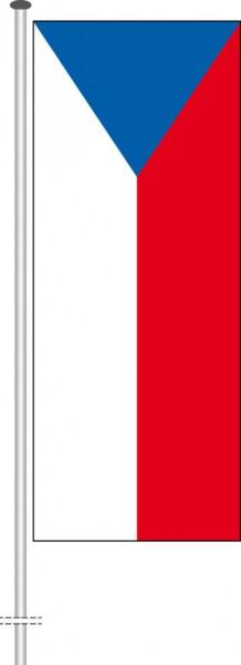 Tschechische Republik als Hochformatfahne