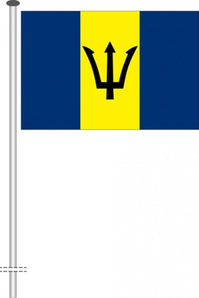 Barbados als Querformatfahne