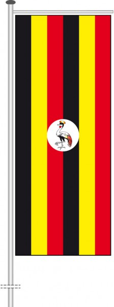 Uganda als Auslegerfahne