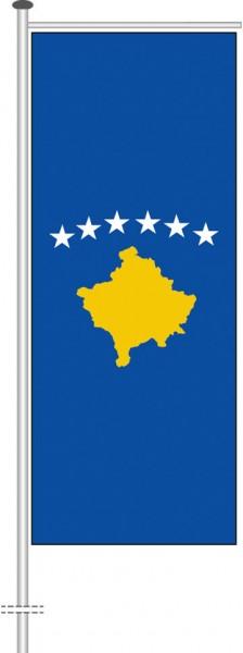 Kosovo als Auslegerfahne
