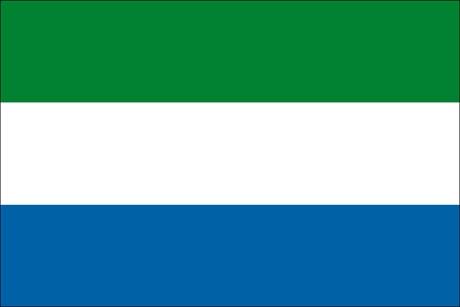 Sierra Leone als Fanfahne