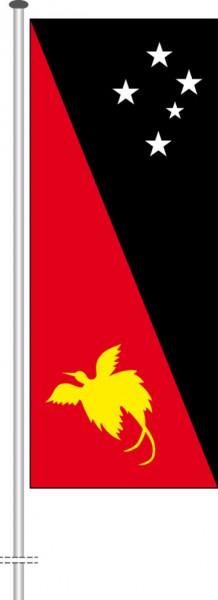 Papua-Neuguinea als Hochformatfahne