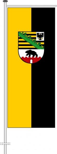 Sachsen-Anhalt - Dienstflagge als Auslegerfahne