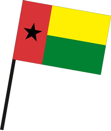 Guinea-Bissau als Stockfahne