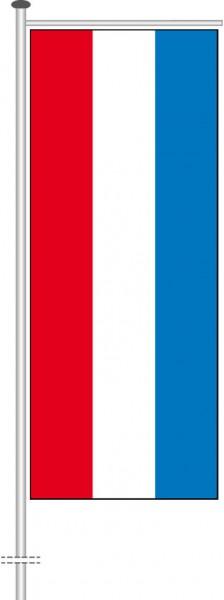 Luxemburg als Auslegerfahne