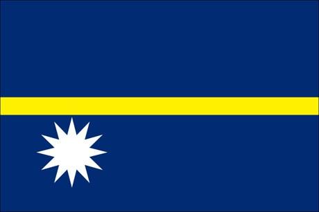 Nauru als Fanfahne