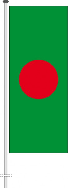 Bangladesch als Hochformatfahne