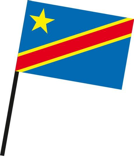Kongo Kinshasa als Stockfahne