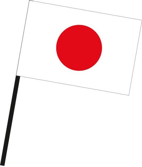 Japan als Stockfahne