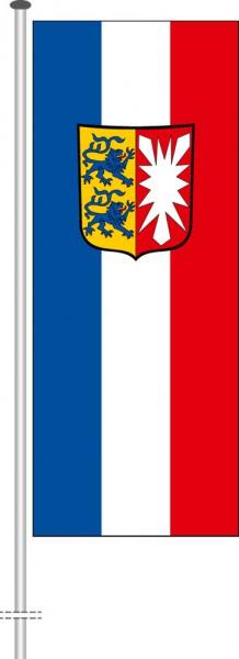 Schleswig-Holstein - Dienstflagge als Hochformatfahne