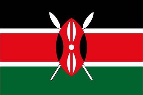 Kenia als Fanfahne