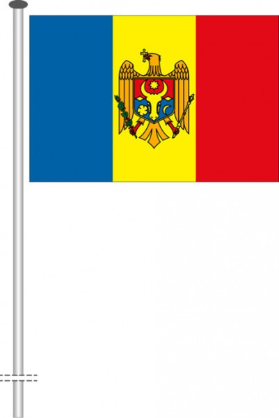 Moldawien als Querformatfahne