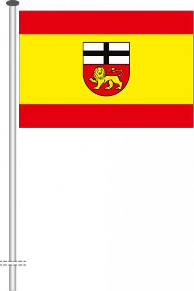 Bonn mit Wappen als Querformatfahne