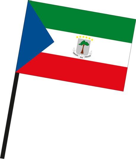 Aequatorialguinea als Stockfahne