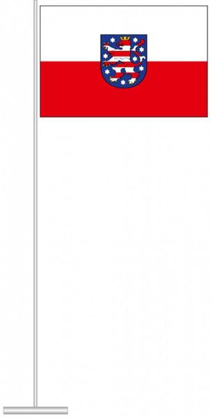 Thüringen - Dienstflagge als Tischfahne