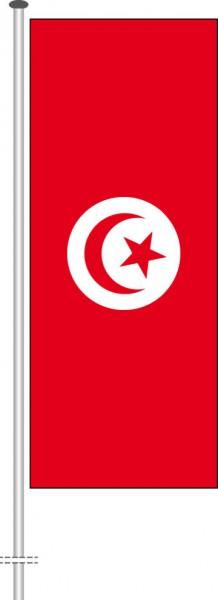 Tunesien als Hochformatfahne