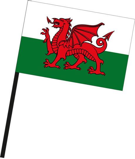 Wales als Stockfahne