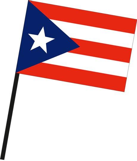 Puerto Rico als Stockfahne